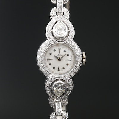 Hamilton Platinum 2.76 CTW Diamond Wristwatch