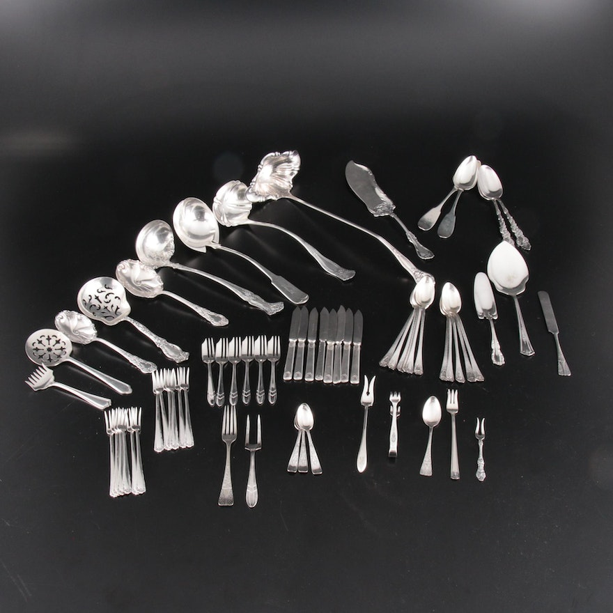 Silver Plate Serving Utensils Including Towle, Holmes & Edwards, and More