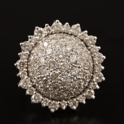 14K 4.38 CTW Diamond Sunflower Ring