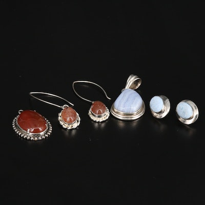 Sterling Jewelry Featuring Barse, Carnelian, Lace Agate and Aventurine