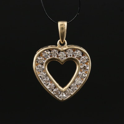 "10K Diamond ""I Love You"" Heart Pendant"