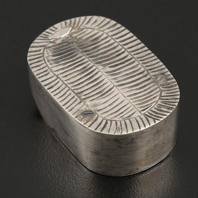 """Japanese Sterling Silver """"Okobo"""" Sandal Form Shaker"""