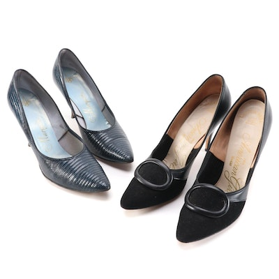 Marquise Maria Lizard Style Pumps and American Girl Trace Leather/Textile Heels