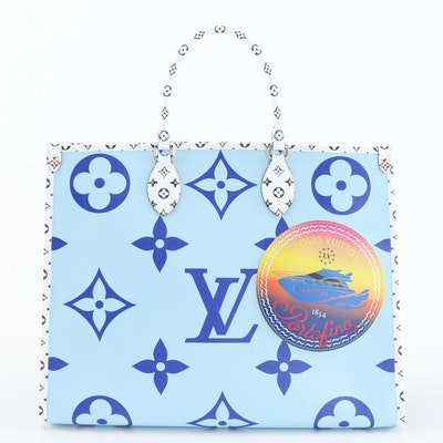 Louis Vuitton Limited Edition Onthego GM Tote in Monogram Giant Reverse Canvas