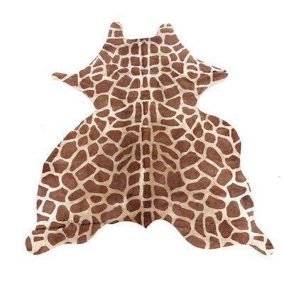 5'3 x 5'8 Giraffe Printed Cowhide Area Rug