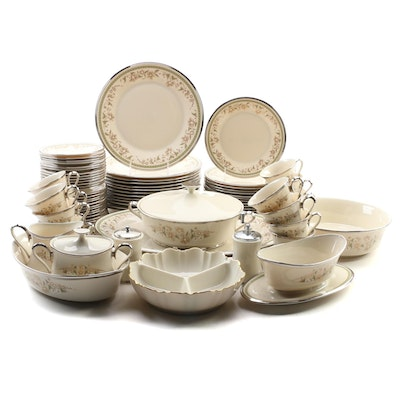 "Lenox ""Fresh Meadow"" China Dinnerware Set for Thirteen"