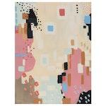 """Sanna Abstract Acrylic Painting """"Sudden Growth"""""""