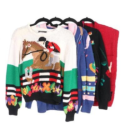 Uruguayan Hand Knit Berek and Gusto Wool Sweaters Including Vintage