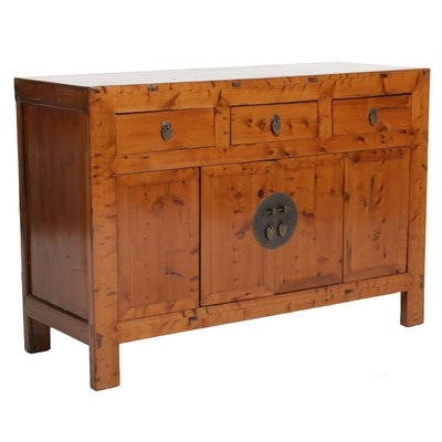 Chinese Pine Sideboard, 20th Century
