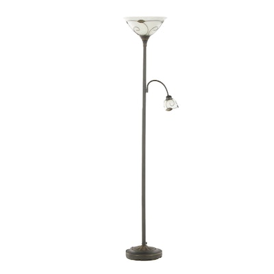 Contemporary Metal Floor Lamp with Adjustable Task Lighting