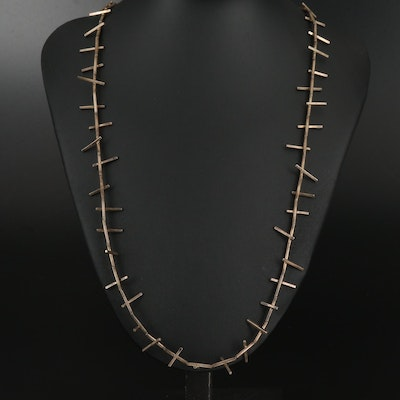 Brutalist Sterling Necklace
