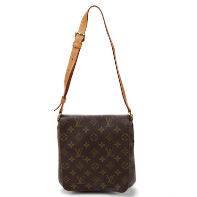 Louis Vuitton Musette Tango Shoulder Bag in Monogram Canvas and Vachetta Leather