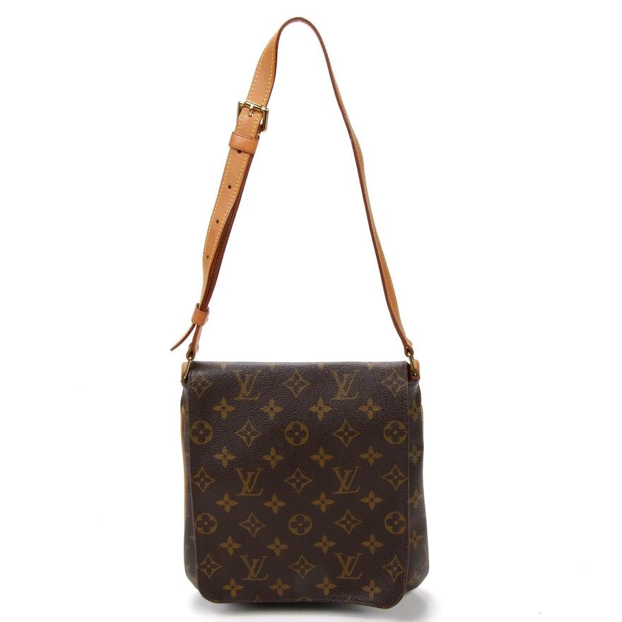 Louis Vuitton Musette Tango Shoulder Bag in Monogram Canvas and Vachetta Leather