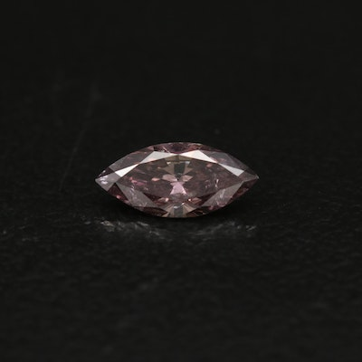 Loose 0.36 CT Marquise Brilliant Cut Diamond with GIA Report