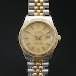 1987 Rolex Datejust Thunderbird Turn-O-Graph 18K and Stainless Steel Wristwatch