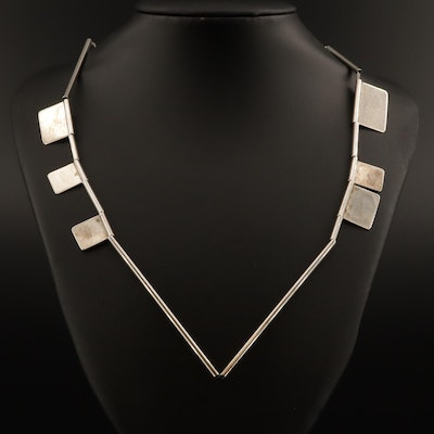 Sterling Silver Contemporary Artisan Studio Jewelry Necklace