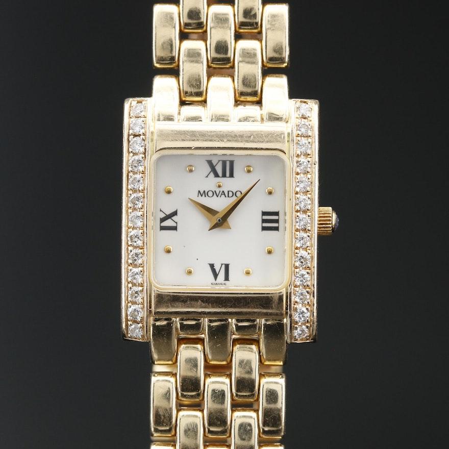Movado 14K Diamond Quartz Wristwatch