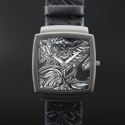 Invicta Adam Dennis Yellow Adrenaline Low-Pro Stainless Steel Quartz Wristwatch