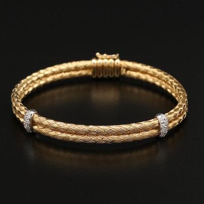 Henderson Designs 18K Two-Tone Diamond Double Woven Bracelet
