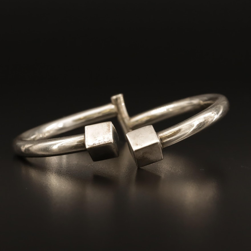 Mexican Sterling Silver Hinged Bracelet
