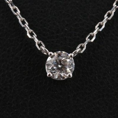 14K 0.43 CT Celebration Cut™ Solitaire Diamond Necklace