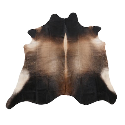 6'11 x 7'9 Natural Brazilian Cowhide Area Rug