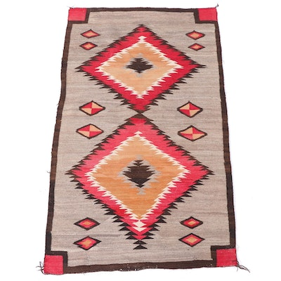 3'2 x 5'5 Navajo Western Reservation Rug, Mid-20th Century