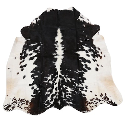 4'6 x 5 Natural Cowhide Area Rug
