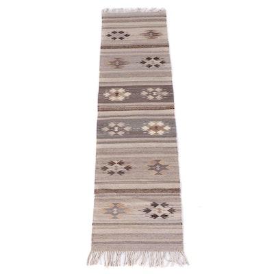 2'6 x 10'3 Handwoven Mexican Zapotec Wool Long Rug