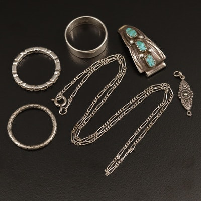 Sterling Silver Jewelry Selection Featuring Gemstone Accents and Carolyn Pollack