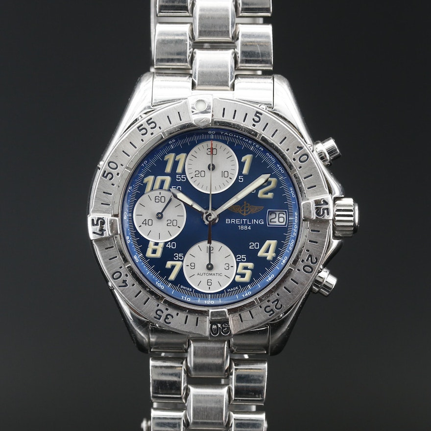 Breitling Colt Chronograph Automatic Stainless Steel Wristwatch