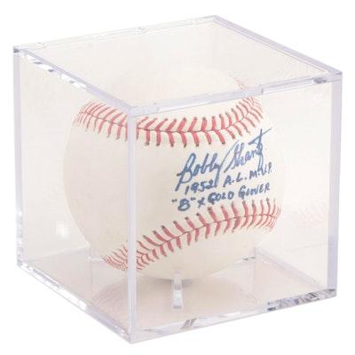 "Bobby Shantz Inscribed ""1952 A.L. M.V.P."" and ""Gold Glove Winner"" Baseball, JSA"