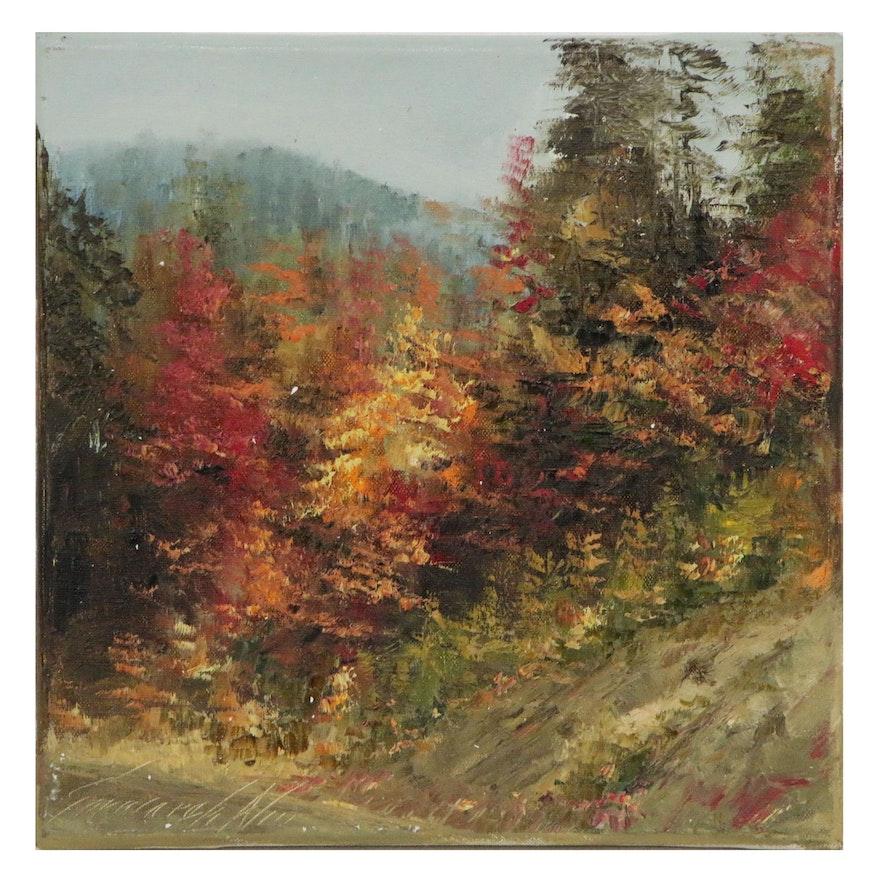 "Garncarek Aleksander Landscape Oil Painting ""Autumn"", 2020"