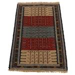 3'7 x 5'7 Handwoven Turkish Village Kilim Rug