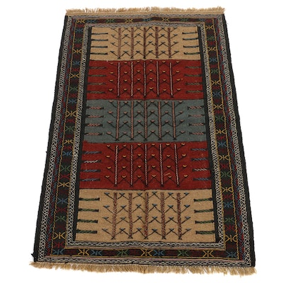 3'7 x 5'7 Handwoven Turkish Village Kilim Rug