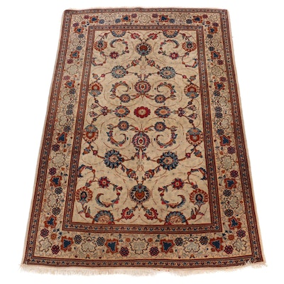 4'6 x 8'7 Hand-Knotted Persian Area Rug