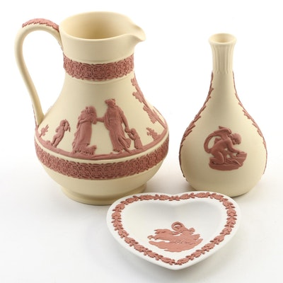The Wedgwood Collector's Society Terracotta Accented Jasperware Jug and More