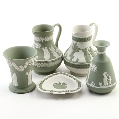 The Wedgwood Collector's Society Sage Green and Cream Jasperware Jugs and More
