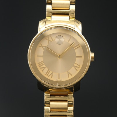 "Movado ""Bold"" Stainless Steel Quartz Wristwatch"