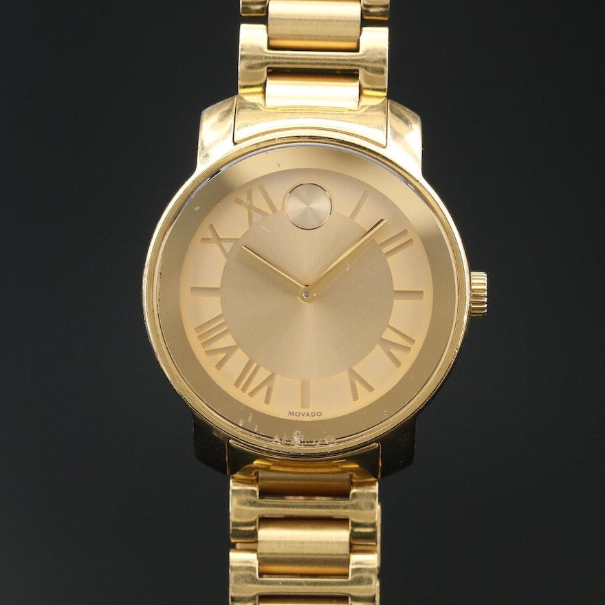 """Movado """"Bold"""" Stainless Steel Quartz Wristwatch"""