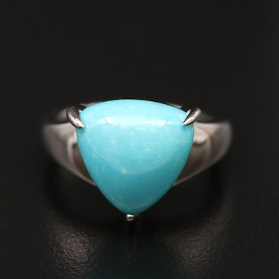 Sterling Silver Turquoise Solitaire Ring