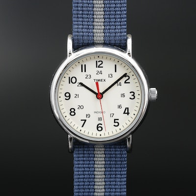 Timex Weekender Stainless Steel Quartz Wristwatch