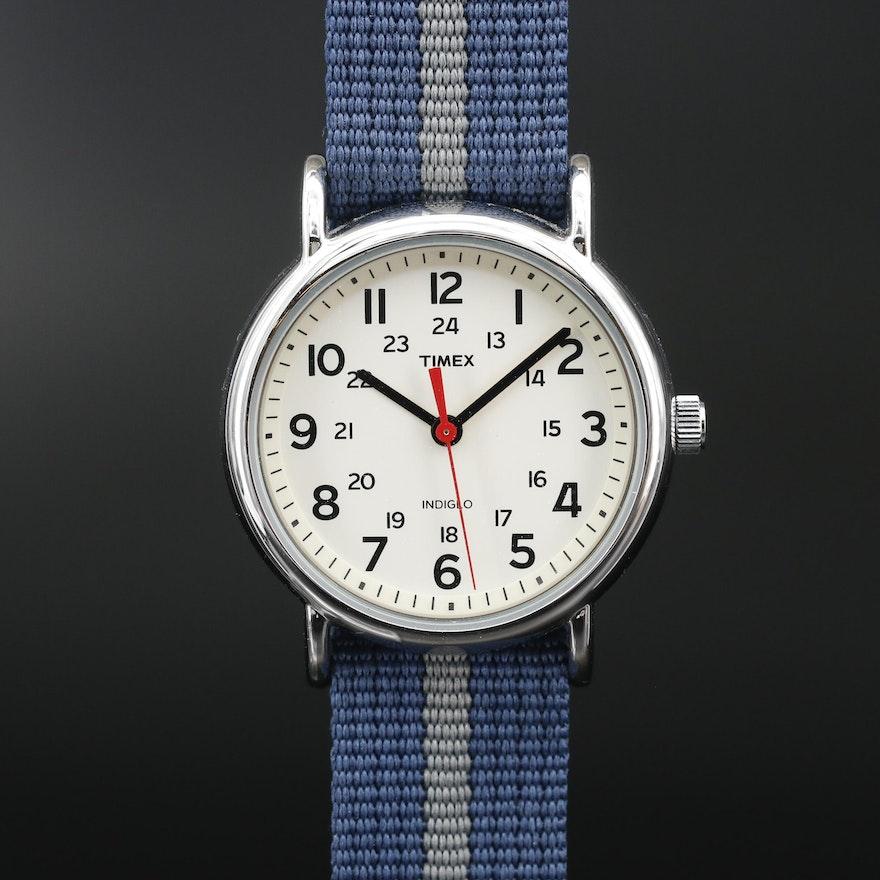 Timex Weekender Stainless Steel Quartz Wristwatch