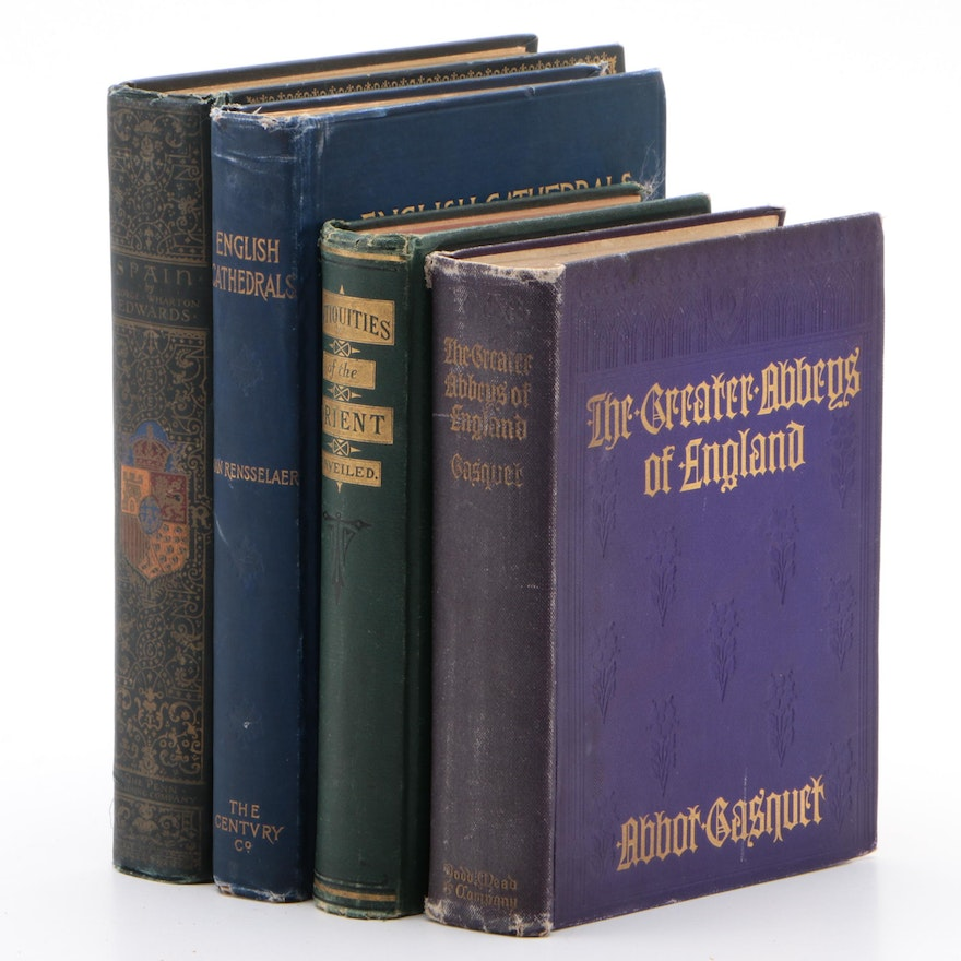 """First Editions """"The Great Abbeys of England"""" and """"Spain"""" with Others"""