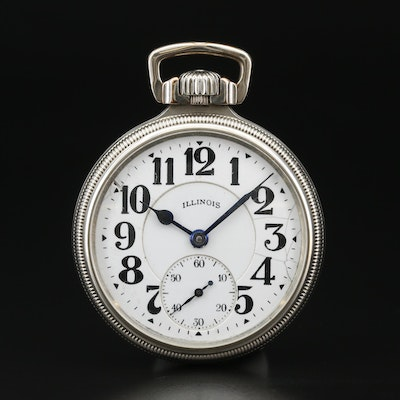 "1928 Illinois ""Bunn Special"" 14K Gold Filled Railroad Grade Pocket Watch"