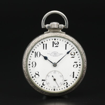 1921 Ball Official Railroad Standard Open Face Pocket Watch