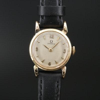 1944 Omega 14K Yellow Gold Stem Wind Wristwatch