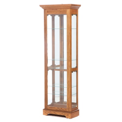 Contemporary Oak-Veneered Display Cabinet