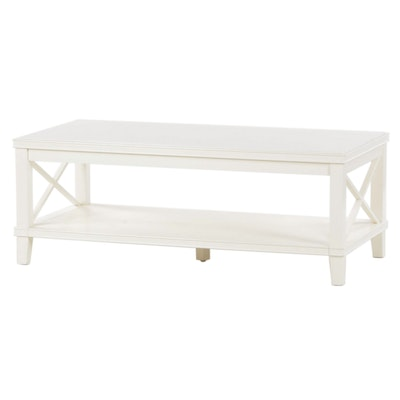 Contemporary Painted Wood Coffee Table