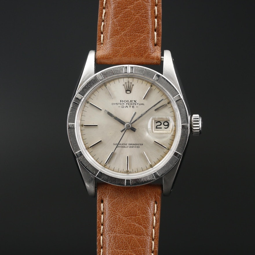 1967 Rolex Oyster Perpetual Date Stainless Steel Automatic Wristwatch